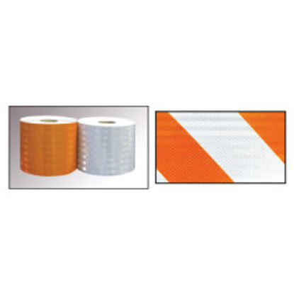 Picture of 3M™  Flexible Prismatic Reflective Sheeting Series 3314 Orange, 4 in x 50 yd