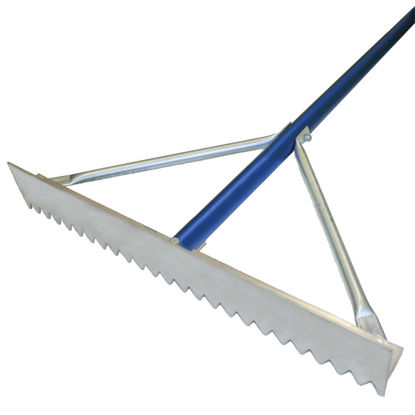 Picture of Kraft Tool Co.® - Magnesium Asphalt Rake with  Blue Handle
