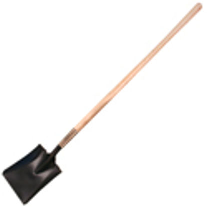 Picture of Kraft Tool Co.® - Square Point Shovel with Long Wood Handle, Kraft