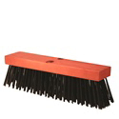 "Picture of Kraft Tool Co.® - 16"" Round Wire Street Broom with Handle"