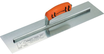 "Picture of Kraft Tool Co.® - 14"" x 4"" Carbon Steel Cement Trowel with ProForm® Handle"