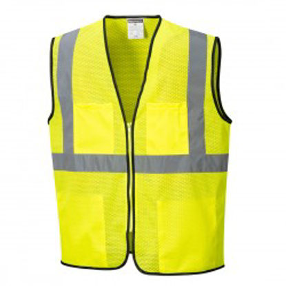 Picture of Portwest Class 2 Hi Vis Tampa Vest Mesh Yellow