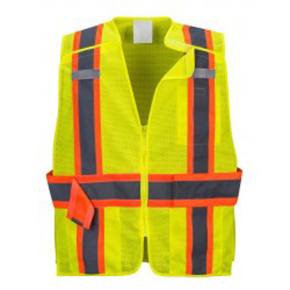 Picture of Portwest Class 2 Hi Vis Breakaway Vest Mesh Yellow