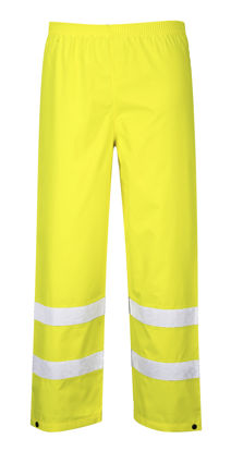 Picture of Portwest Class E Hi Vis Pants Waterproof Yellow