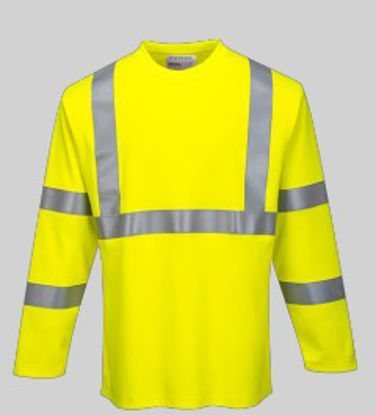 Picture of Portwest Hi Visibility Flame Resistant Long Sleeve Shirt