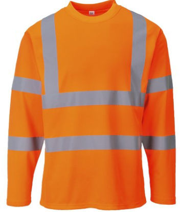 Picture of Portwest  COTTON COMFORT LONG SLEEVED T-SHIRT