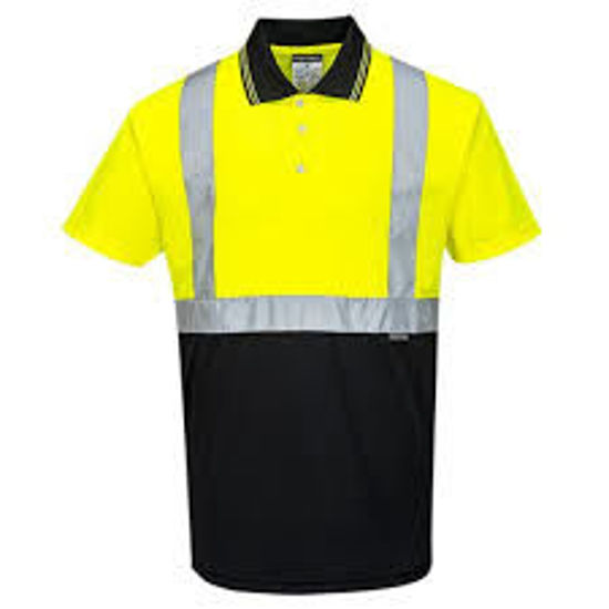Picture of Portwest  Two-Tone Polo Yellow/Black