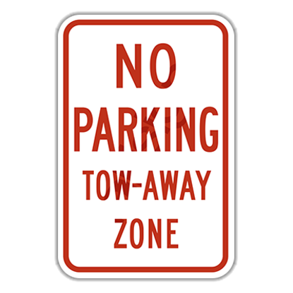 Picture of JR7-201P  NO PARKING / TOW AWAY ZONE Diamond Grade
