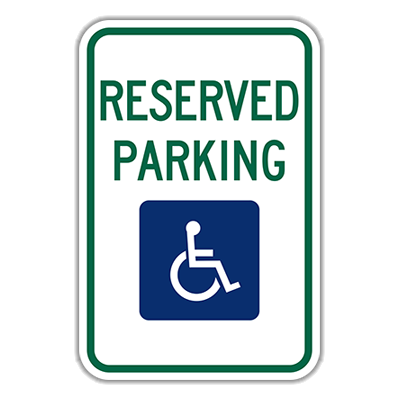 Picture of R7-8 RESERVED PARKING  Aluminum Diamond Grade