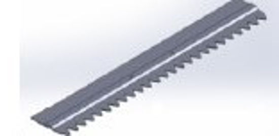 "Picture of Gencor - 30"" Aluminum blade, serrated one edge, plain other edge with Handle and Bracket"