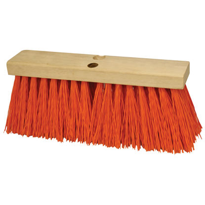 "Picture of Kraft Tool Co.®  18"" Heavy Duty Orange Sweeping Broom Head"