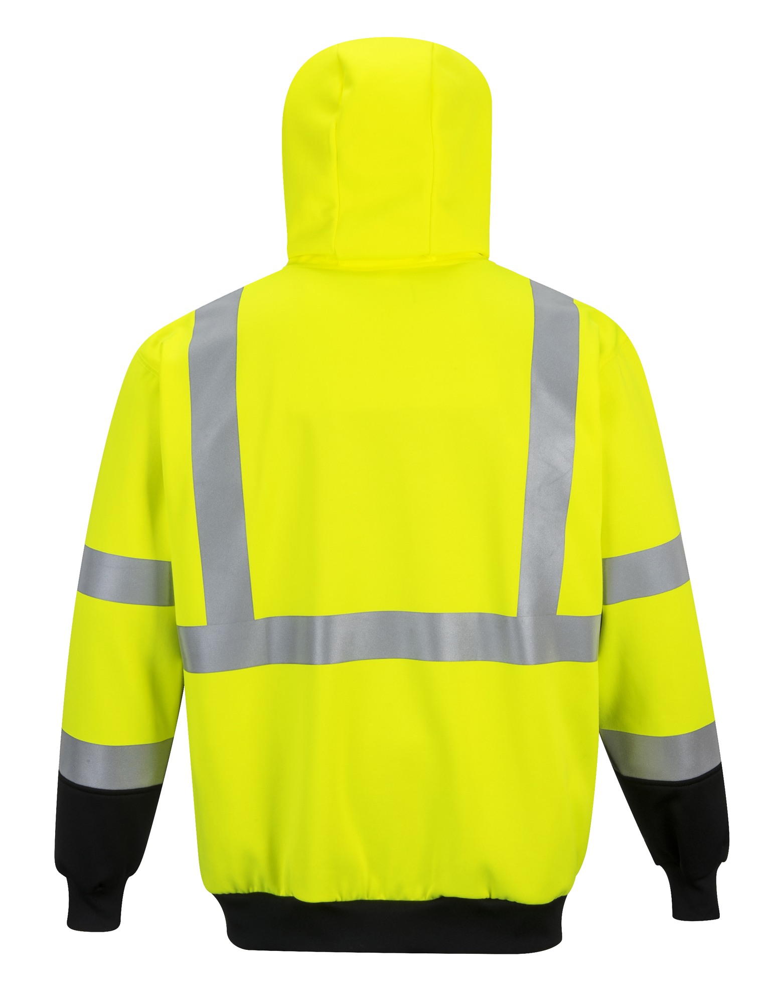 Picture of PortWest Hi-Vis Two-Tone Zipped Hoodie- Back