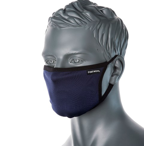 Picture of Portwest 3-Ply Anti-Microbial Fabric Face Mask (PK25)