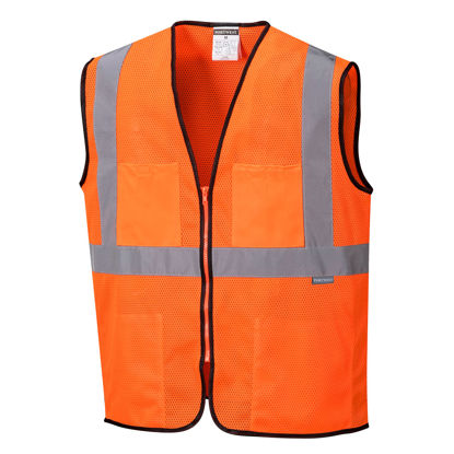 Picture of Portwest Class 2 Hi Vis Tampa Vest Mesh Orange