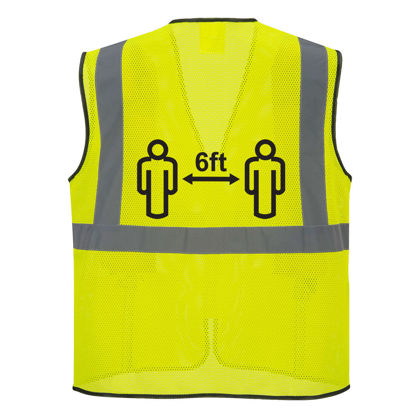 Picture of Portwest Class 2 Hi Vis Social Distancing Vest Mesh Yellow