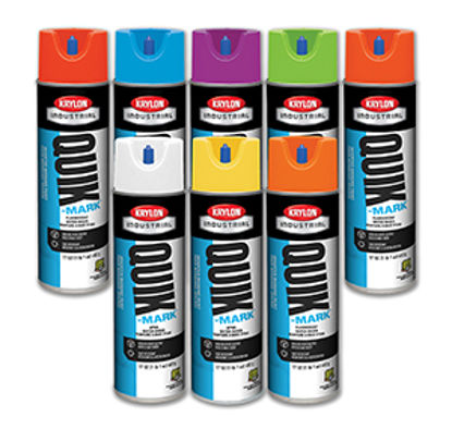 Picture of Krylon Quik Mark Water Inverted Marking Paint, Water Based, 20 oz can