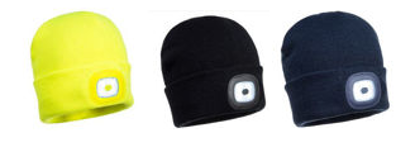 Picture of Portwest Junior Beanie / Hat With Rechargeable LED Light