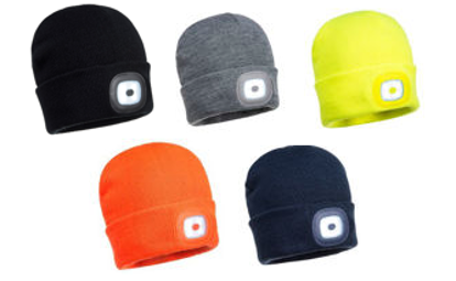 Picture of Portwest Beanie / Hat With Rechargeable  LED Light