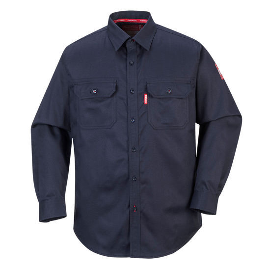 Picture of Portwest BizFlame 88/12 FR Shirt Navy