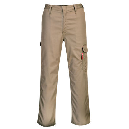 Picture of Portwest BizFlame  FR Cargo Pants Khaki Regular