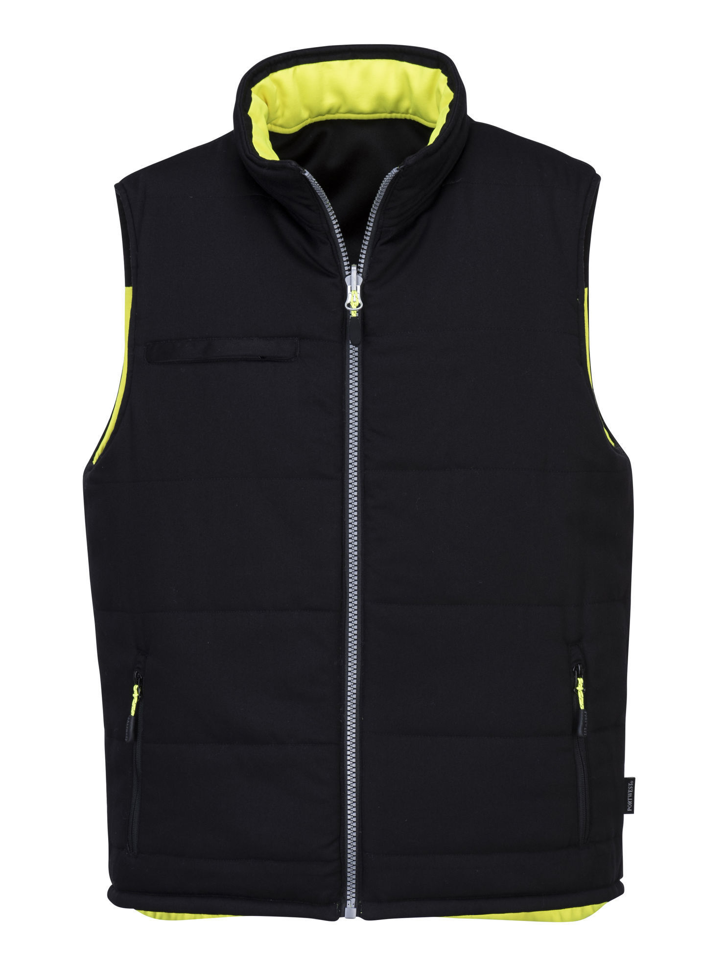 Picture of Portwest PW3 Hi-Vis Reversible Vest Yellow/Black