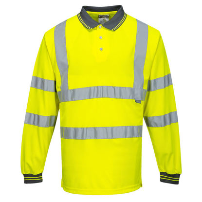 Picture of Portwest  Hi-Vis Long Sleeved Polo