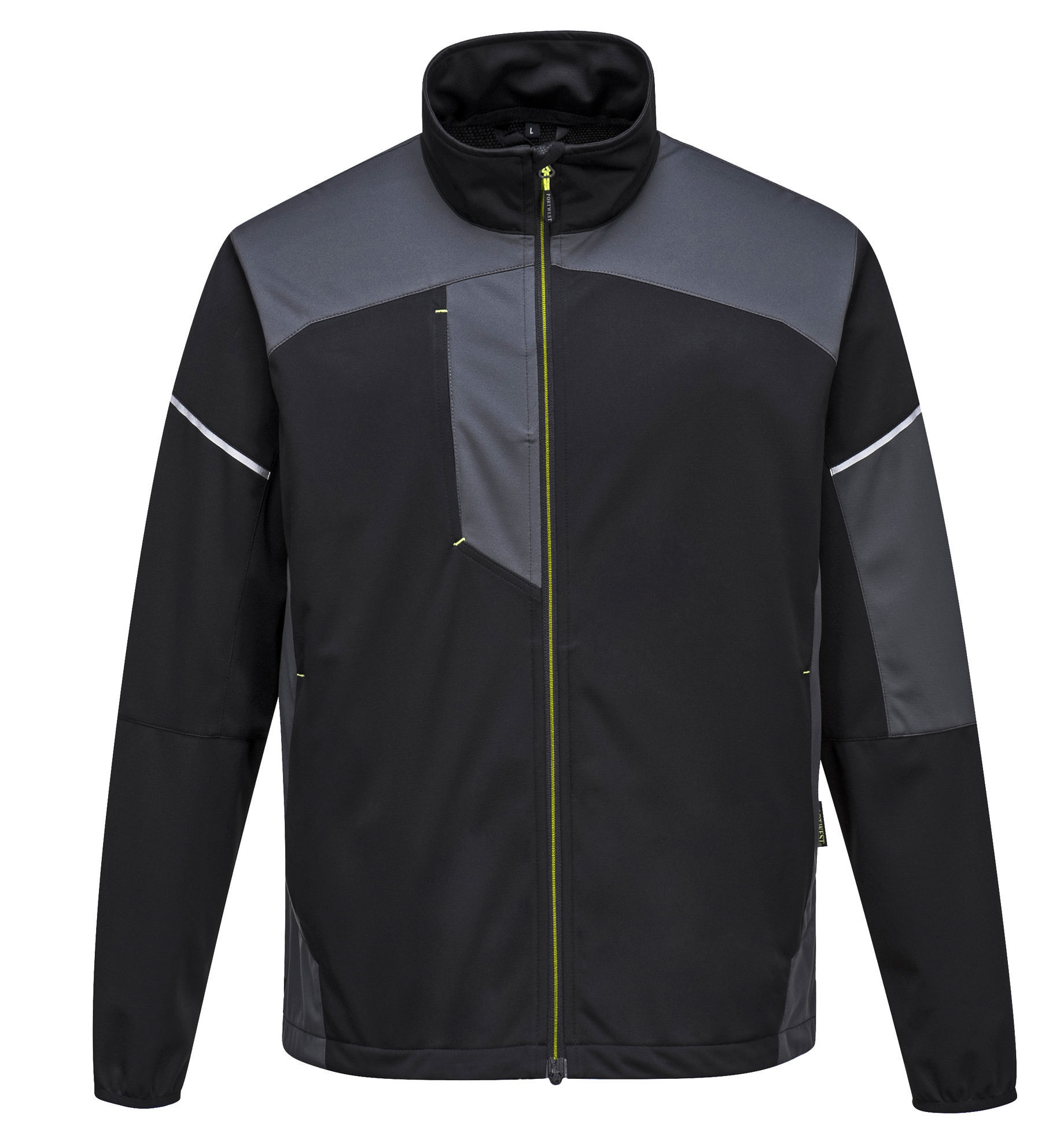 Picture of Portwest T620 - PW3 Flex Shell Jacket Black/Zoom Grey
