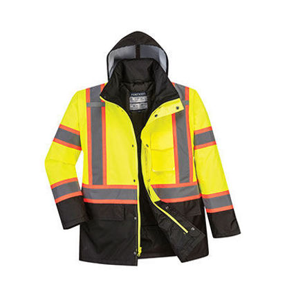 Picture of Portwest -  Hi-Vis Contrast Tape Traffic Jacket