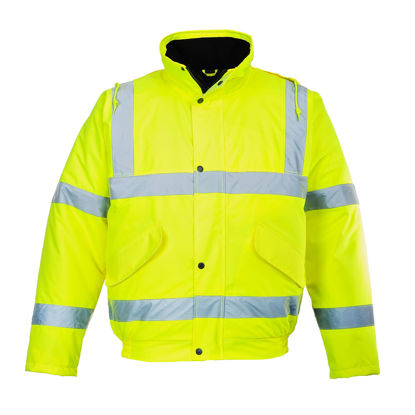 Picture of Portwest  Hi-Vis Bomber Jacket Yellow