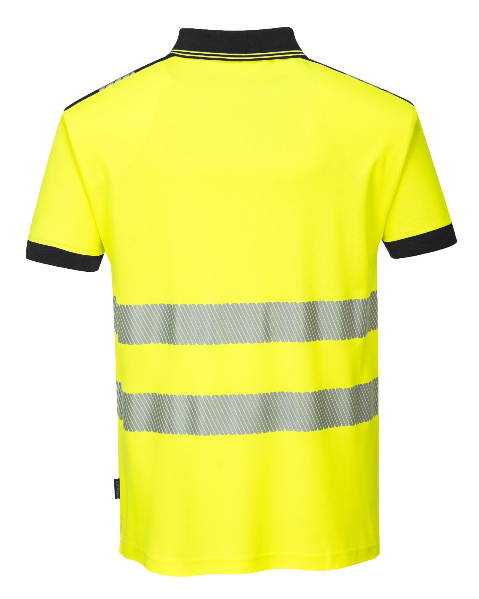 Picture of Portwest  PW3 Hi-Vis Shirt Sleeve Polo Shirt Yellow/Black